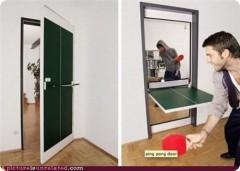 дверь для пинг понга