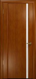 дверь Спациа-1 ДО Темный анегри с вставкой белый триплекс