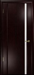 дверь Спациа-1 ДО Венге с вставкой из белого Триплекса