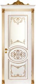 дверь Вероко 2 ДО Золото с рисунком на стекле