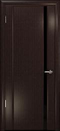 дверь Спациа-1 ДО Эвкалипт с вставкой Черный триплекс