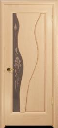 дверь Нобилта ДО Беленый дуб, тонированное стекло с фьюзингом