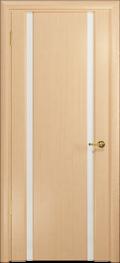 дверь Спациа-2 ДО Беленый дуб, белый Триплекс