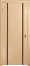 дверь Спациа-2 ДО Беленый дуб, вставки из тонированного Триплекса
