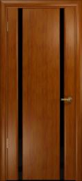 дверь Спациа-2 ДО Темный анегри, стекло чёрный Триплекс