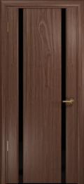 дверь Спациа-2 ДО Американский орех с Чёрным триплексом