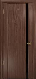 дверь Спациа-1 ДО Американский орех с вставкой чёрный Триплекс