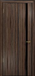дверь Спациа-1 ДО Эбен с вставкой из стекла черный триплекс