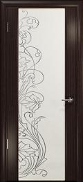 дверь Спациа-3 ДО Эвкалипт со стразами на белом Триплексе