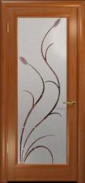 дверь Лютэа-Р ДО Красное дерево с фьюзингами