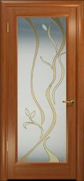 двери Лютэа-Р ДО Красное дерево Витраж