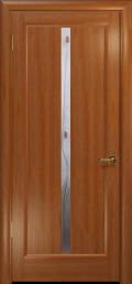 дверь Лютэа-L ДО Красное дерево с вставкой
