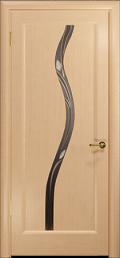 дверь Лютэа–Z ДО Белёный дуб стекло витраж