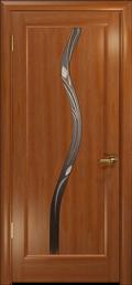 дверь Лютэа–Z ДО Красное дерево Витраж