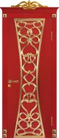 Дверь Вероко 1 Красная с золотом