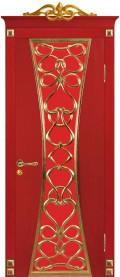 дверь Вероко 1 ДО Красное золото остеклённая