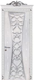 дверь Вероко 1 ДГ Серебро от производителя Мариам