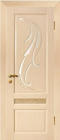 дверь Лилия элит ДО Белёный дуб остеклённая