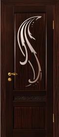 дверь Лилия элит ДО Венге эбен остеклённая