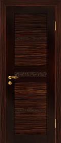 дверь Квартет 1 элит ДГ Венге эбен с вставкой из стекла